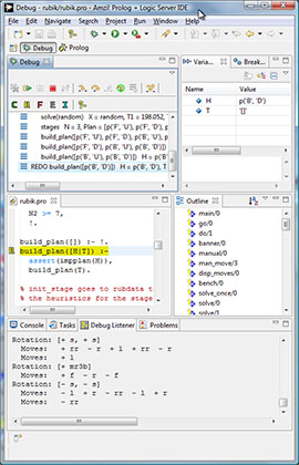 Amzi! Prolog Eclipse plug-in source code debugger